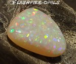 12,6ct. GEM CLASS OLYMPIC FIELD SOLID OPAL BRILLIANTE PATTERN!