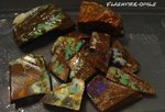 "241 GRAMM BOULDER ROUGH OPAL PARCEL ""P1"" GREEN-ORANGE-BLUE"