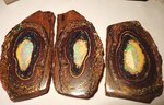 886 CARAT!! 3 GEM BOULDER OPAL NUT SET