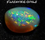 5.7ct GEM NOBBY OPAL RINGSTEIN BRILLIANT GRÜN GOLD ORANGE