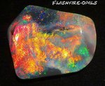 112ct.!! INVESTMENT SUPER- GEM BLACK OPAL ROT/GOLD/ORANGE