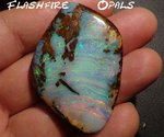 133ct GEM BOULDER OPAL  RED-GREEN/TURQUISE/BLUE