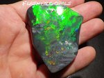 230 ct.!! INVESTMENT GREAT GEM BLACK OPAL GREEN-GOLD-RED