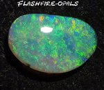 2.4ct. GEM SOLID BLACK OPAL BRILLIANT GRÜN/GOLD/ORANGE