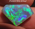 6.6ct GEM NOBBY OPAL BRILLIANZ 5 !! GREEN TURQUISE-BLUE
