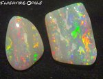 7,7ct GEM OPAL SET! BRILLIANT! ROT/GOLD/ORANGE//GRÜN