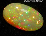 14,9 ct. GEM WELO OPAL BRILLIANT RED-GOLD-GREEN
