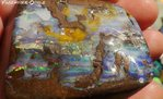 600 ct. GEM  BOULDER OPAL GREEN-RED-BLUE