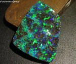 73ct. RIESEN INVESTMENT GEM BOULDER OPAL BRILLIANT GRÜN/BLAU