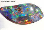 106ct. INVESTMENT GEM BOULDER OPAL BRILLIANT RED/MULTI