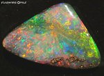 31,7ct. RIESEN INVESTMENT GEM BOULDER OPAL BRILLIANT ROT/MULTI