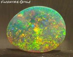 "3,1ct. GEM SOLID NOBBY OPAL BRILLIANT ""GOLD-RED-GREEN"""