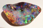 43,2ct. RIESEN INVESTMENT GEM BOULDER OPAL BRILLIANT ROT/MULTI