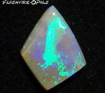 6,4ct. GEM SOLID DARK OPAL BRILLIANT TURQUISE-GREEN