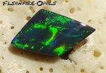 1.0Ct. RINGSTONE SOLID BLACK OPAL GEM GREEN-TURQUISE